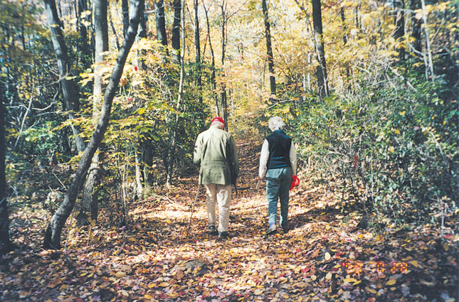 Bill Van Wie and Beth Dock at the Van Wie Preserve